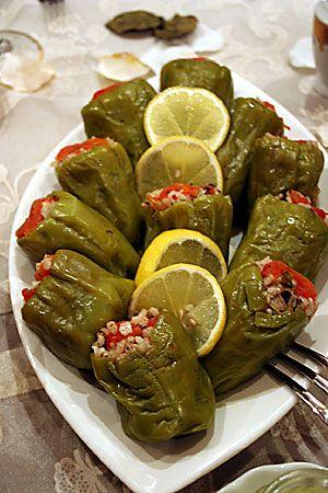 Turkish specialty  Dolma - stuffed green pepper.. Mmmmm yummy yummy . My mum makes the best DOLMA ;)