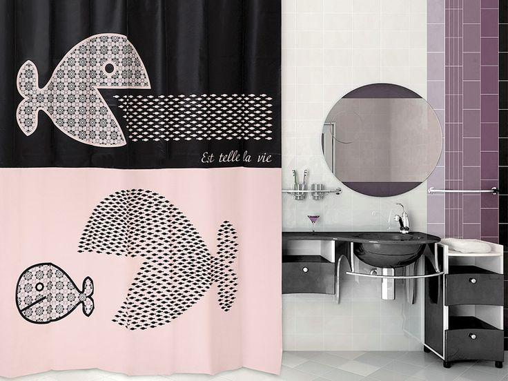 WESS Estla - занавеска для ванной комнаты из пластика 180х200 см. Цена 1150р. Посмотреть на сайте: http://likemyhome.ru/catalog/shtorki-karnizy-kolca/00003703 #likemyhome #showercurtain #bathroomdecor #interiorstyle #wess #estla