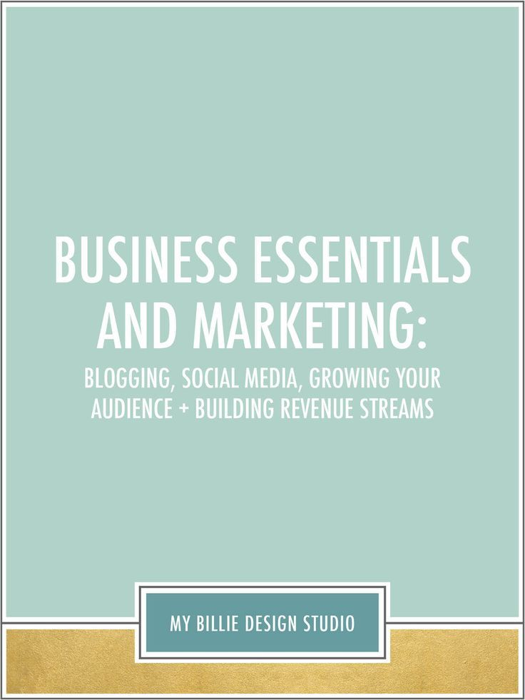 Business essentials and marketing: blogging, social media, growing your audience and building revenue streams.