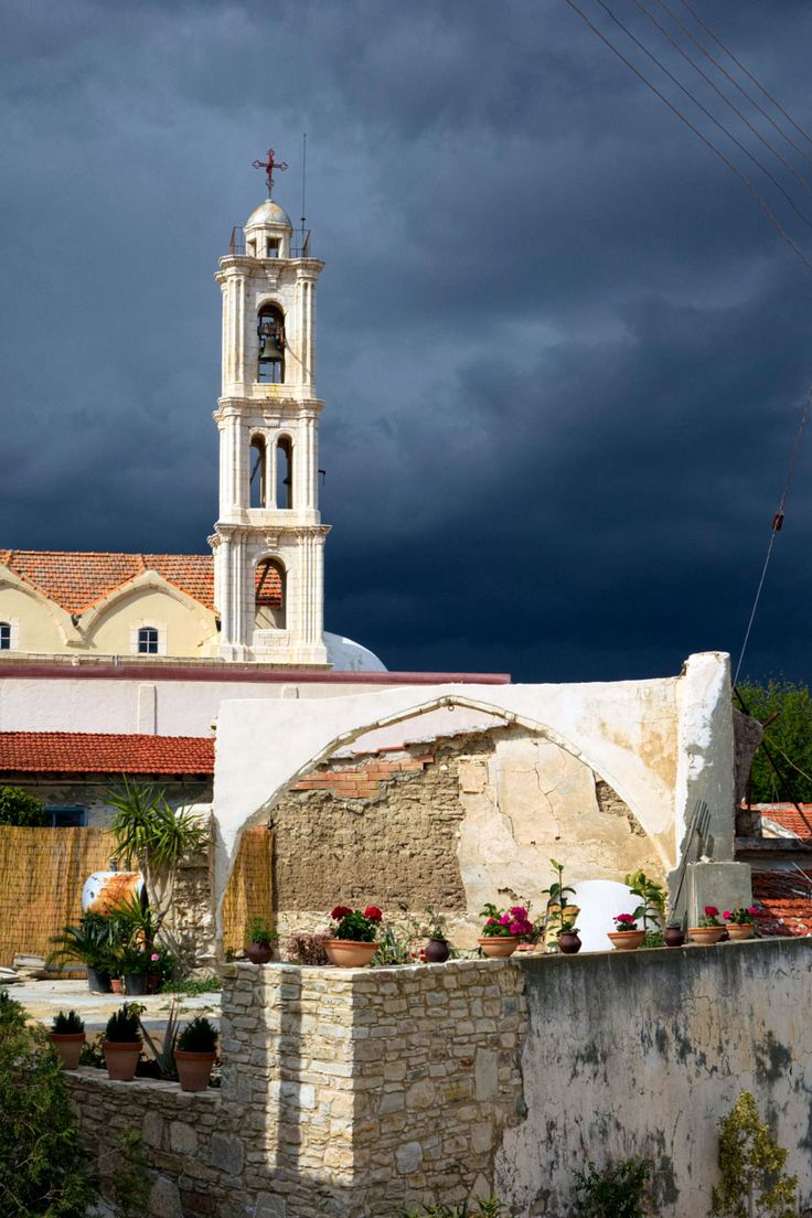 Stormy day in Larnaca, Cyprus