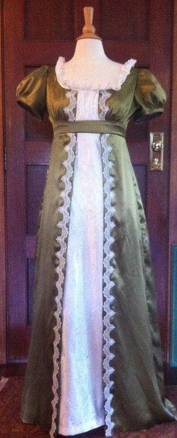 Regency Jane Austen Napoleonic Ball or Wedding Gown. $350.00, via Etsy.