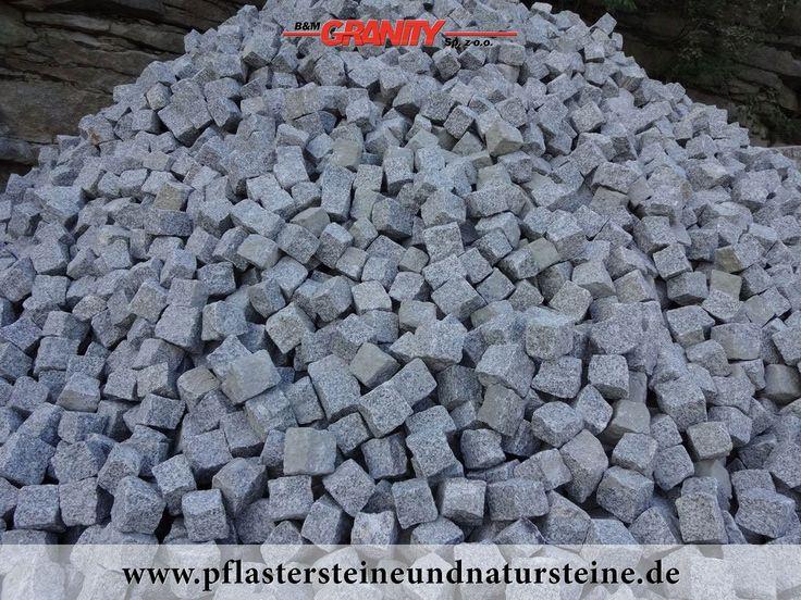 """B&M GRANITY - Winter-Rabatt - frostbeständige Pflastersteine aus Granit (grau, gespalten, """"Salz und Pfeffer"""") , Granit-Pflastersteine http://www.pflastersteineundnatursteine.de/fotogalerie/pflastersteine/"""