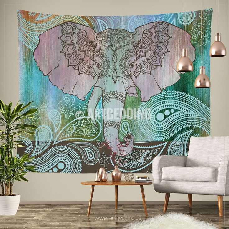 78 best Elephant inspired wall tapestry design, Elephant