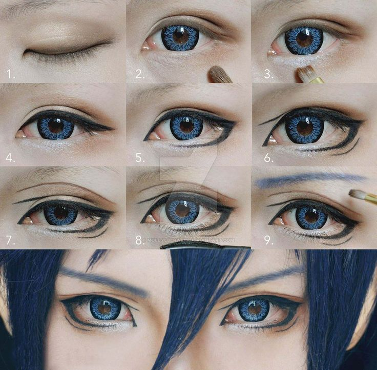 Cosplay Eyes Makeup Tutorial for Shonen by mollyeberwein on DeviantArt