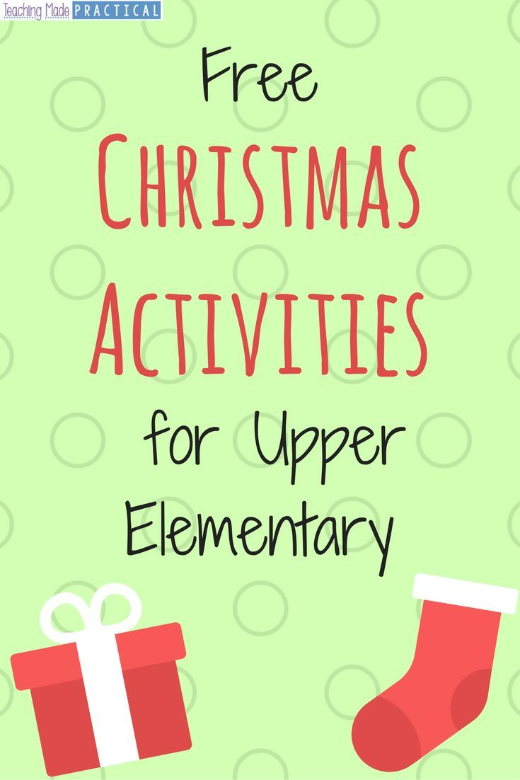 Free Christmas Activity printables for your students in upper elementary.