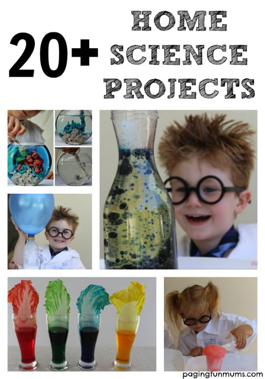 20 fun science projects you can do at home. So many easy science experiments for kids.