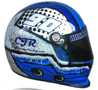 Custom Airbrushed Racing Helmets simple | G Force Race Helmet Custom Painted | Airbrush Gallery