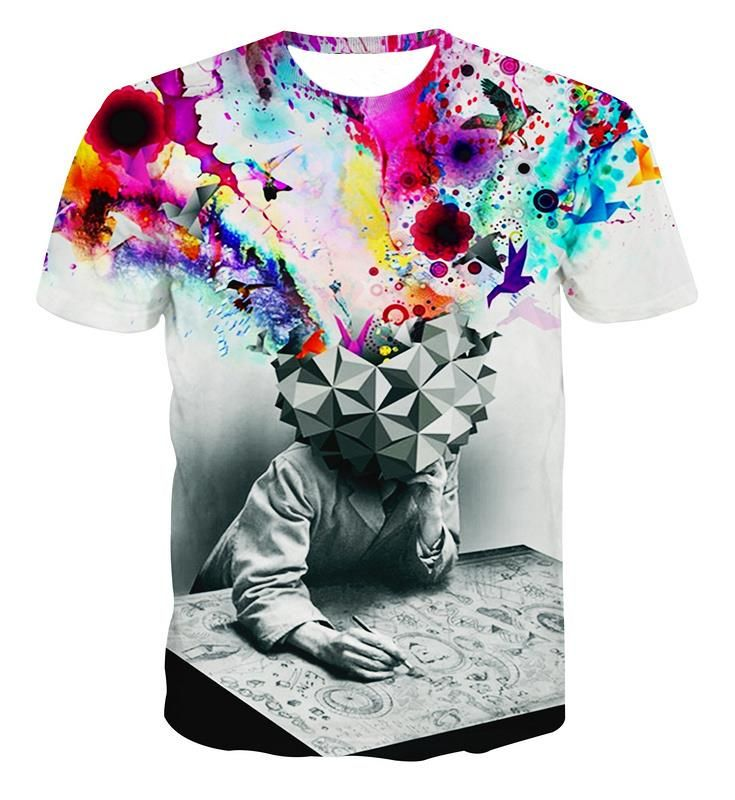 Find More T-Shirts Information about New Fashion women/men Print flower 3d T shirts harajuku Short Sleeve Floral jungle Rio T shirt Galaxy Tee shirt tops Plus Size,High Quality apparel packaging,China shirt piece Suppliers, Cheap shirt gothic from Alisister Store on Aliexpress.com