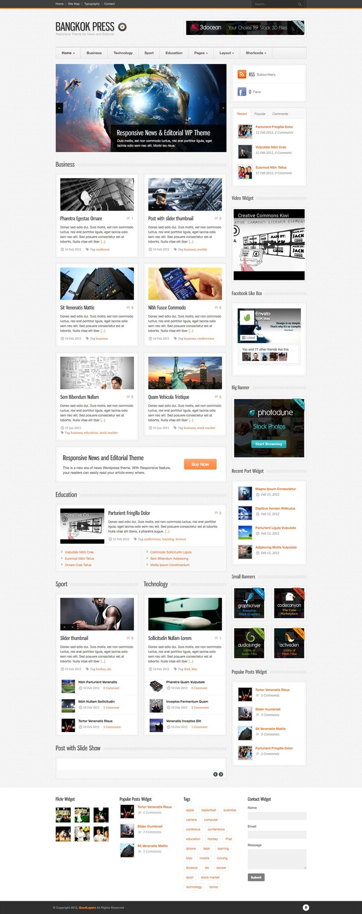 Bangkok Press is the most awesome News and Editorial Wordpress Theme.