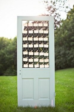 Escort Card Door display