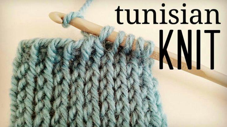 How to crochet Tunisian Knit Stitch (TKS) - Tunisian Crochet