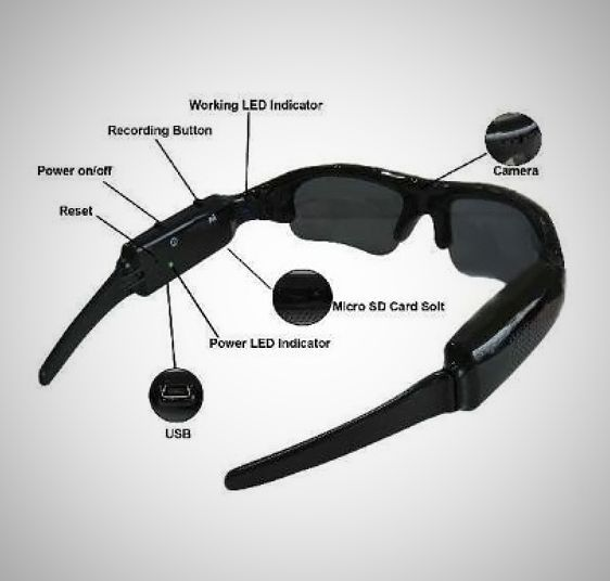 Go undercover with the Mini Gadgets Hidden Spy DVR Video Camera Sunglasses. Secretly record video and pictures of what you see at high resolution with a wireless remote, a sly way to press the play button. http://thestore.com/mini-gadgets-hidden-spy-dvr-video-camera-sunglasses/TSEA0D8TKD#.Uo_iNuL3OAY
