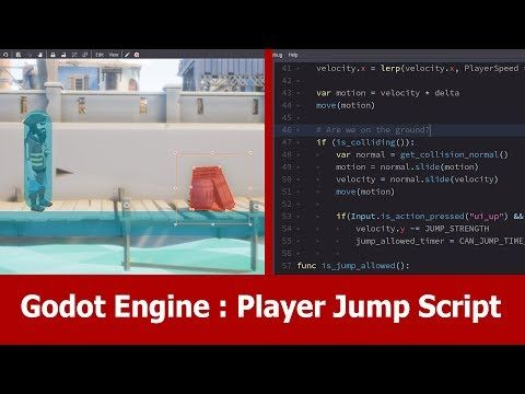 Godot Engine Tutorial: Player Jump - YouTube | Godot in 2019