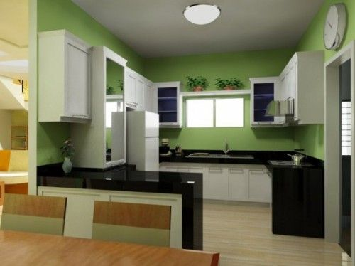 Dream Kitchen Pictures With Green Color Cabinet Color Ideas