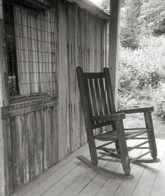 Rustic Front Porch Rocking Chair Gallery Wrapped by SHGPhotography