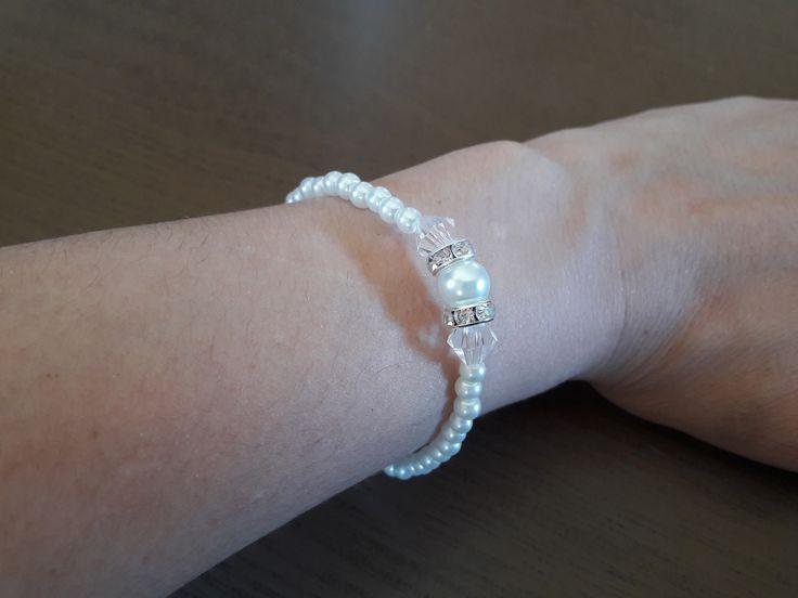 bracelet perle nacre et strass : Autres accessoires bijoux par elle-n