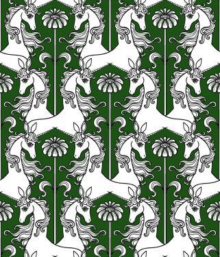 """Einhorn & Gerbera"" Muster © Lord-Orlando"