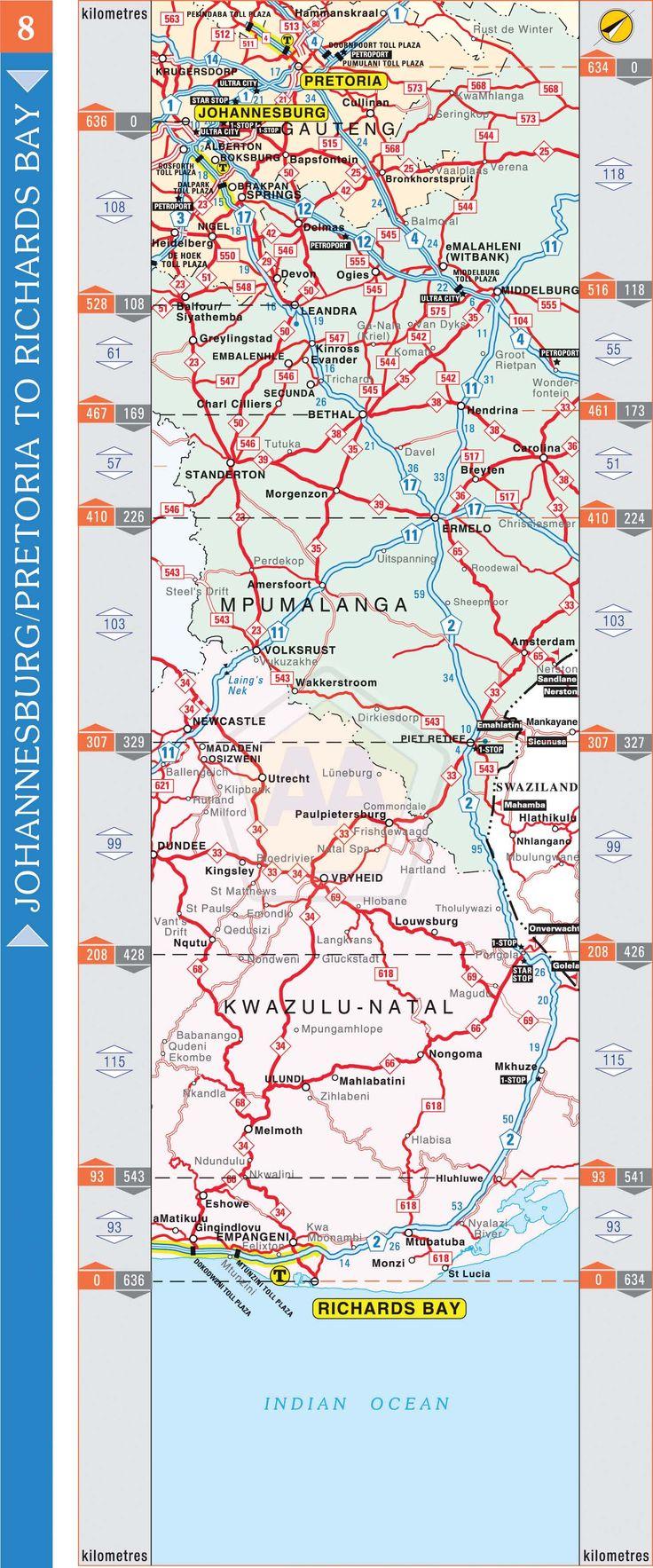Johannesburg / Pretoria to Richards Bay | Automobile Association
