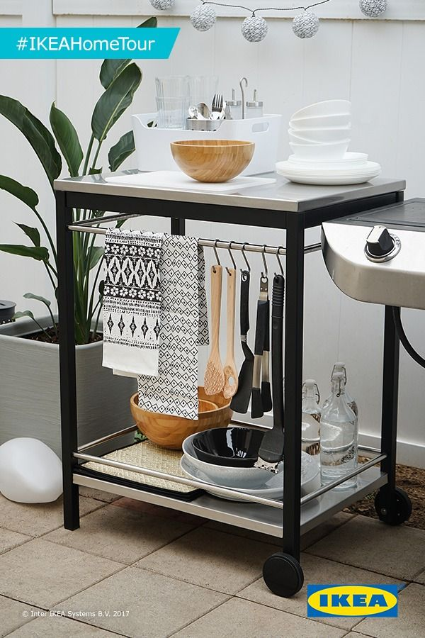 The IKEA KLASEN Cart Is A Great Addition To Any Outdoor Space Home Tour Squad Used It In Their Makeover Because Its Functional And