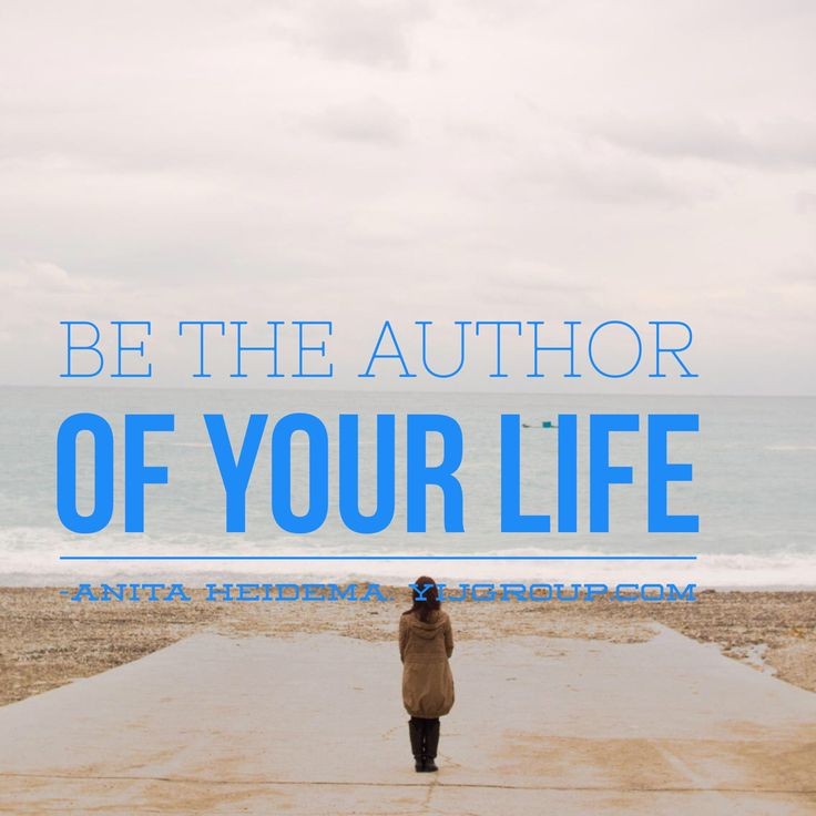 Be the author of your life and biz.  YIJGroup.com.  Your Inspirational Journey