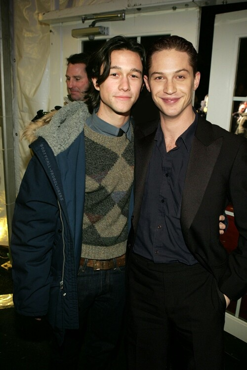 JGL TH... so young... Robin and Bane from The Dark Knight Rises.