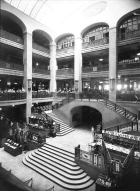 The Entrance Hall at NK Stockholm around year 1915-1930