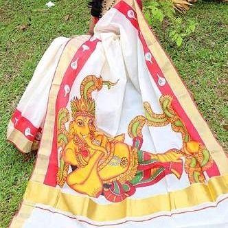 Kerala Kasavu Sarees are the finest traditional sarees defining the essence of true beauty of every woman of Kerala.  #kasavu #keralasarees #keralakasavu #mundum #neriyathum #cultures #india #womenwear #weddingwear #ethnic #clothes #clothing #beautiful #indiansaree #indiansarees #saree #indianoutfits #indiandesigner #style #stylish #bollywood #celebrity #instagram #instapic #instadaily #tagsforlikes #instagramhub #weaving #kerala #keralakasavusarees