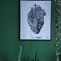 Plants heart kalendarz {40x50}, dodatki - plakaty, ilustracje, obrazy - grafiki i ilustracje