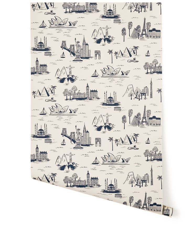 Cities Toile (Parchment) by Rifle Paper Co. for Hygge & West