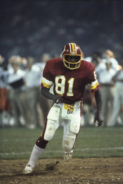 Wide receiver Art Monk of the Washington Redskins 1980