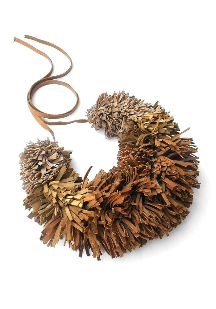 "Giulia Boccafogli Grifo necklace - ""Brown"" - king size   Birik Butik Online Shop"