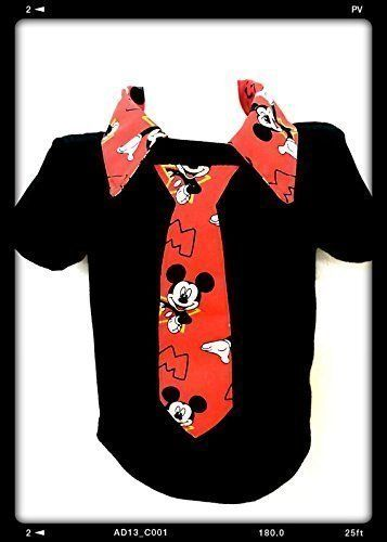 Mickey mouse boys Polo personalized Shirt Toddler boy's necktie shirt baby size 24 M, 2 T, 3T,4T,5T.6-7 Yrs. This outfit was created for all your little man in your life. Cute and unique items are so hard to find for boys. I'm so happy I came up with this idea, this is something you won't find in any store. This item was not made by Disney, it's handmade. Can be done with long sleeves are shorts sleeves shirt Can be done in different sizes. Available sizes 2 T 3 T 4 T 5 T 6 7.