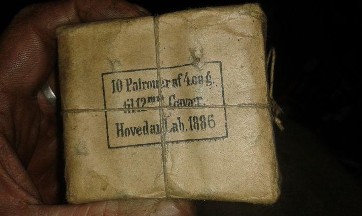 """original """"soldier pack"""" 10 round 12,17*42,unopened,from 1886"""