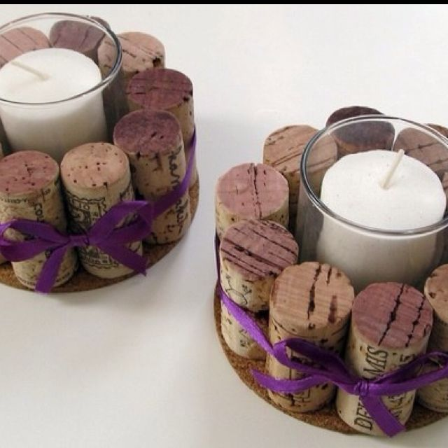 and look! Cork candle holders....Maybe you should just start saving corks now...?