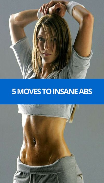 Just 5 moves to insane abs. #abs #fitness #health #workout