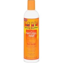 Cantu Shea Butter for Natural Hair Creamy Hair Lotion. Got this for my hub. He likes it so far. I rubbed a little on my ends after a long tough evening out in the heat and my hair still felt soft the following day. I misted my hair with the Coconut Milk Shine & Hold mist before applying the lotion.
