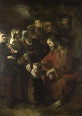 Christ Blessing the Children - Nicolaes Maes
