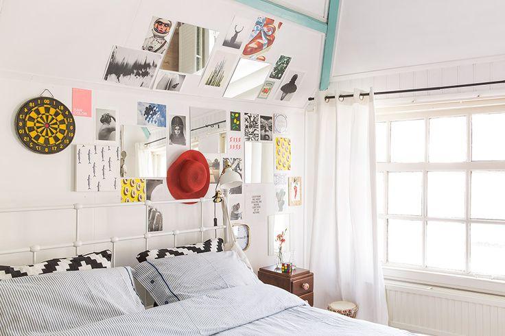 spiegels slaapkamer schuine wand oplossing