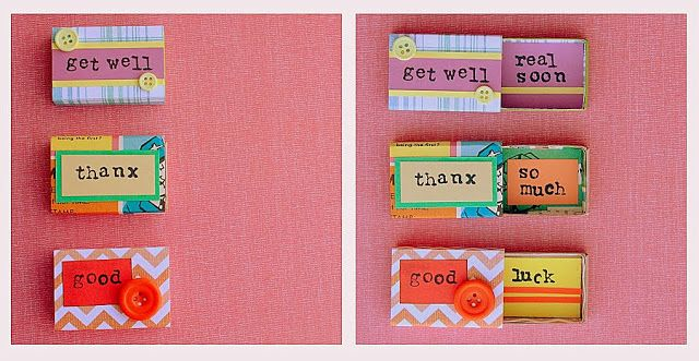 DIY Matchbox Greetings - adorable