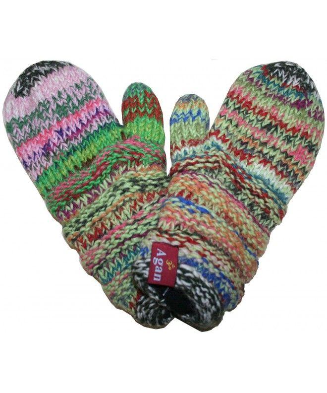 ecf7c314587 MT Knit Wool Fleece Lined Mismatched Mitten Nepal - Multicolor 1 -  CO11SZ0SJZH