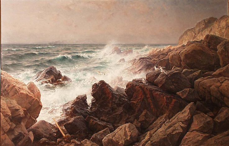 Berndt Lindholm: Surf and Rocks on the West Coast of Sweden, 1896.