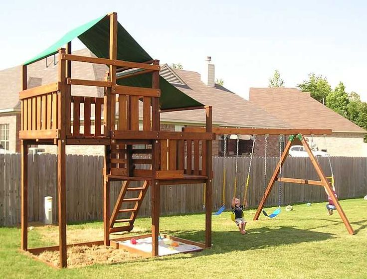 Best 25 wooden swing set plans ideas on pinterest swing for Build your own wooden playset