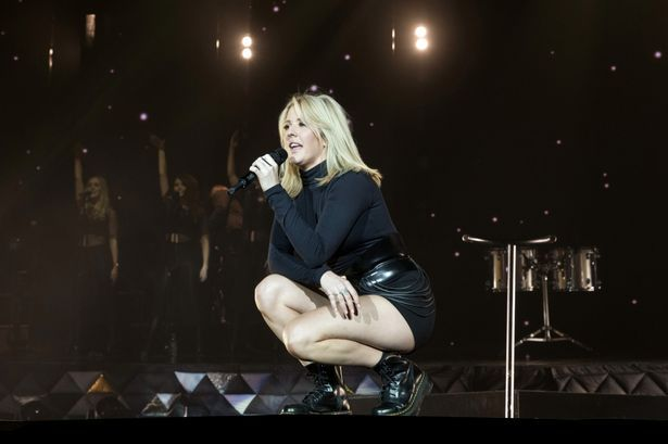 Ellie Goulding performs live during a concert at the Max-Schmeling-Halle
