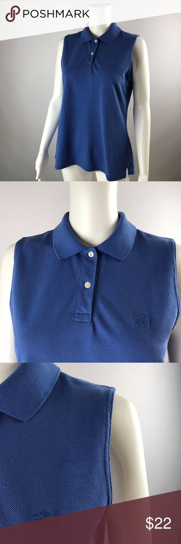 Brooks Brothers MEDIUM Sleeveless Polo Shirt Brooks Brothers MEDIUM Sleeveless Polo Shirt Womens BLUE PURPLE Embroider Logo Pre-owned, no stains or defects, Chest 38 Length 24 Brooks Brothers Tops Blouses