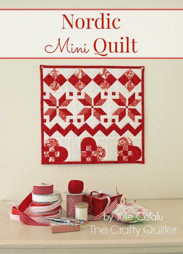 The Crafty Quilter | Nordic Mini QAL, Row 4 and Finishing | http://thecraftyquilter.com
