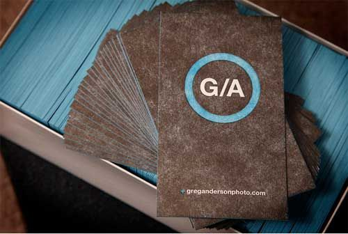 15 Thick Business Cards with Edge Painting