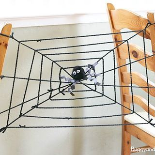 Here's a really easy science activity for Halloween- exploring how the vibrations in a spider web alert the spider to its prey! You can find the details up #ontheblog !