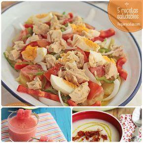 Recetas saludables y bien fresquitas, ideales para el verano. No te pierdas estas recetas de verano: sopa de melón y jamón, gazpacho de sandía y mucho más.