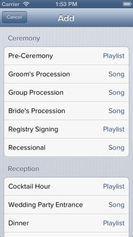 The iPod Wedding DJ (There's an App for that!)
