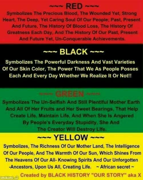 RBGY ~ Our Colors #Kwanzaa #Knowledge #BlackHistory